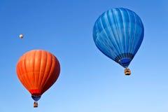热空气气球火 免版税库存照片