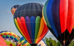 热空气气球节日在沃特福德, WI 免版税库存图片