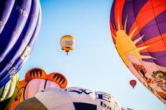 热空气气球节日,巴讷费尔德,荷兰 库存照片