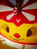 热空气气球面孔微笑 库存照片