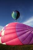热空气气球飞行发射 库存图片