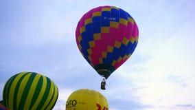 热空气气球,国际气球节日 股票录像