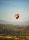 热空气气球, Rancho圣塔菲,加利福尼亚 免版税库存图片