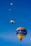 热空气气球/节日大别墅D'Oex 2014年 图库摄影