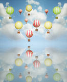 热空气气球 免版税库存照片