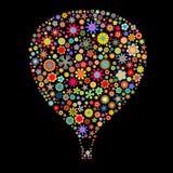 热空气气球 库存例证