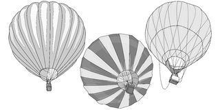 热空气气球/montgolfier传染媒介 库存图片