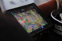 热空气气球GPS导航系统 免版税库存照片