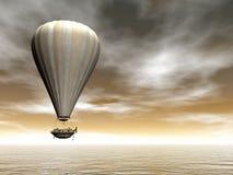 热空气baloon - 3D回报 库存照片