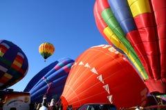 热空气baloons 免版税库存图片