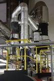 热管道系统的蒸汽 图库摄影