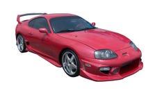 热红色在上丰田 免版税库存图片