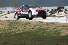 热罗姆Grossset Janin 巴塞罗那FIA世界Rallycross 图库摄影