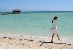 热美好的古巴的幸福 库存照片