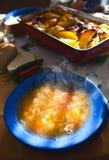 热膳食汤 库存照片