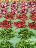 热葱胡椒堆 免版税库存图片