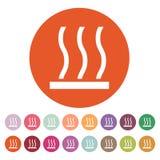 热表面象 热标志 平面 免版税库存图片