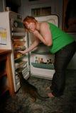 热衷的食物孕妇 库存照片