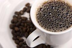 热豆的咖啡 库存图片