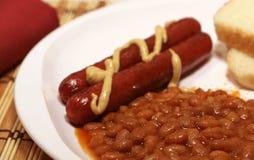 热豆的狗 免版税库存照片