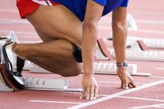 热身的运动员 免版税图库摄影