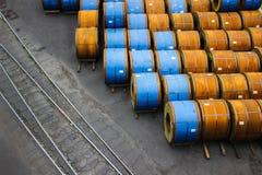 热轧钢带钢产品在仓库里 库存图片