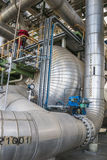 热转换器在精炼厂中 免版税库存图片