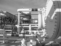 热转换器在精炼厂 激昂的汽油空气冷却器 库存照片