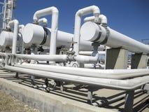 热转换器在精炼厂 石油精炼的设备 库存图片