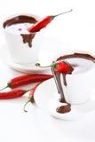 热辣椒的巧克力 免版税库存图片