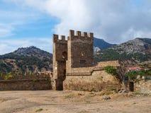 热那亚人的堡垒在Sudak 图库摄影