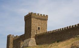 热那亚人的堡垒的墙壁 库存照片