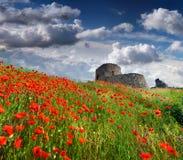 热那亚人的堡垒的废墟 库存图片