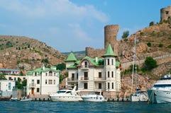 热那亚人的堡垒 库存照片