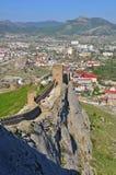 热那亚人的堡垒 免版税库存照片