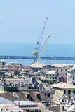 热那亚全景端口 图库摄影