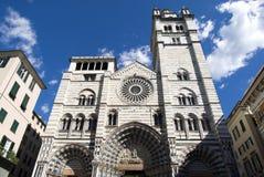 热那亚大教堂 库存照片