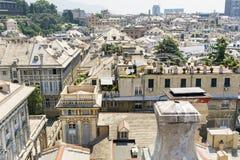 热那亚市,全景 库存图片