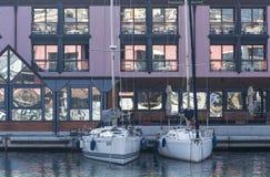 热那亚旧港口 免版税图库摄影