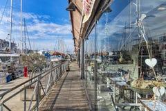 热那亚旧港口 免版税库存图片