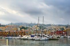 热那亚港口在意大利 免版税库存图片