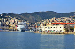 热那亚端口 库存图片