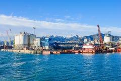 热那亚端口 免版税图库摄影