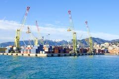 热那亚端口 免版税库存图片