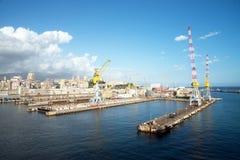 热那亚端口 库存照片