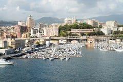 热那亚端口 免版税库存照片