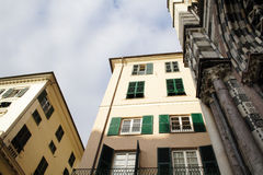热那亚老城镇 库存照片