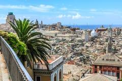 热那亚老市视图 库存照片