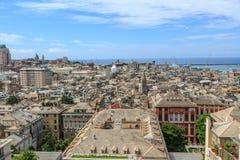 热那亚老市视图 图库摄影