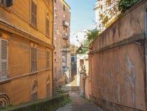 热那亚老镇 免版税库存照片